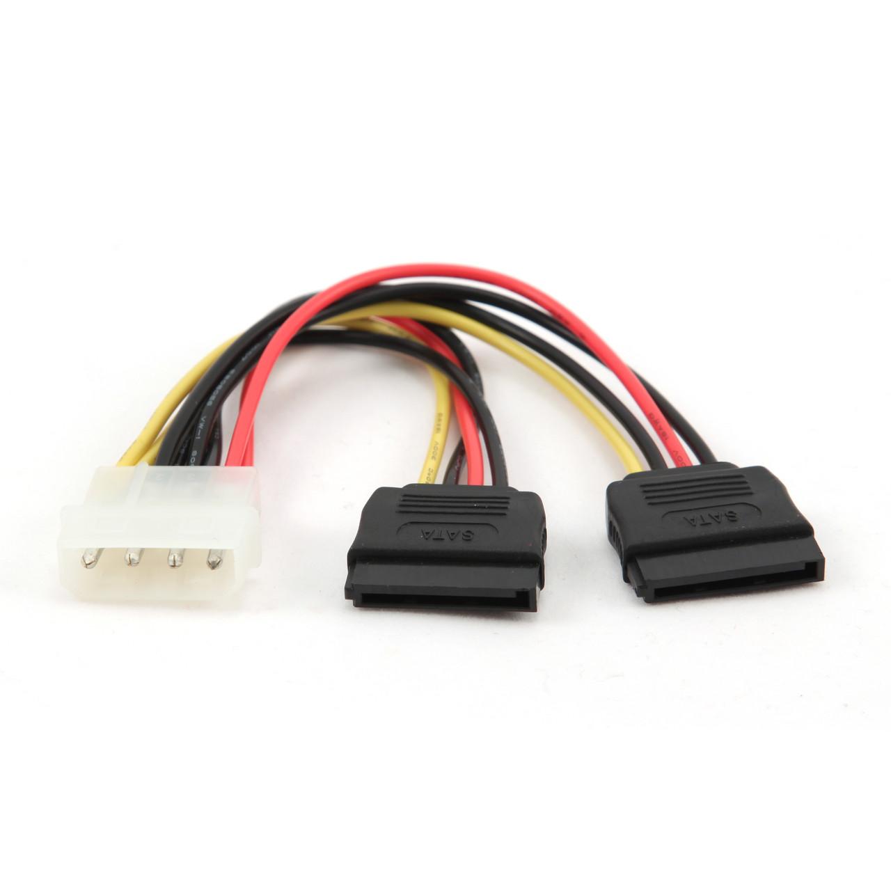 Кабель Gembird CC-SATA-PSY, двойной кабель питания SATA, 15 см
