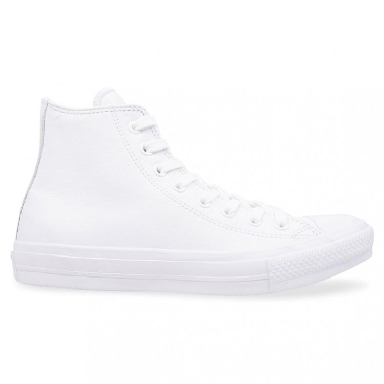 Кеды Converse All Star High  White Tops Leather Chuck Taylor