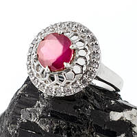 Рубин, серебро 925, кольцо, 076КР