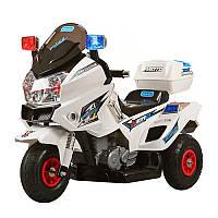 """Детский электромотоцикл BAMBI """"Police"""" с двумя моторами Звуковыми и световыми эффектами Багажник"""