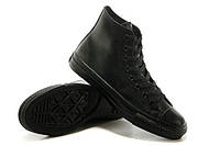 Кеды Converse All Star High  Black Tops Leather Chuck Taylor