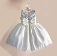 Детское платье пышное короткое