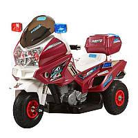 """Детский электромотоцикл BAMBI """"Police"""" Мигалка с двумя моторами Звуковыми и световыми эффектами Багажник"""