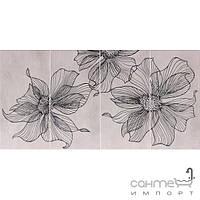 Плитка для ванной Pilch Плитка керамическая декор Pilch Vulcano 1 30x60 (рисованные цветы)
