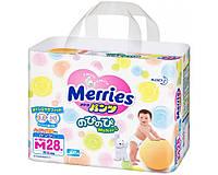 Детские подгузники-трусики Merries М (6-10 кг) 28 шт