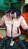 Осенняя курточка на девочку на флисе