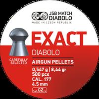 Пули пневматические JSB Diabolo Exact, 500 шт/уп, 0,547 г, 4,53 мм