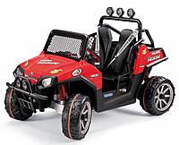 Детский электромобиль внедорожник Peg-Perego Polaris Ranger RZR FM радио 24V красный