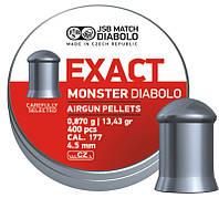 Пули пневматические JSB Diabolo Monster, 400 шт/уп, 0,87 г, 4,52 мм