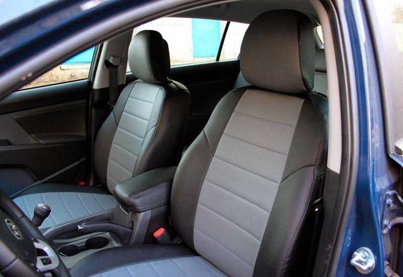 Автомобильные чехлы Nissan Micra (K12) с 2003-10 г(цельная) Эко-Кожа (