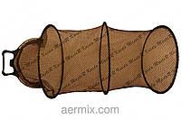 Садок черный прорезиненный с ручкой фиксатором 55см, садок рыболовный прорезиненный круглый