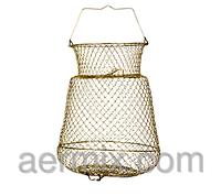 Садок металлический круглый 33см, рыбацкий садок, металлический садок для рыбы, садок для рыбалки