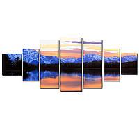 Большая Модульная Картина Startonight Горы Озеро 7 частей Пейзаж Природа Печать на Холсте Дизайн дома Интерьер