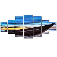 Большая Модульная Картина Startonight Лодка 7 частей Пейзаж Море Печать на Холсте Дизайн дома Интерьер