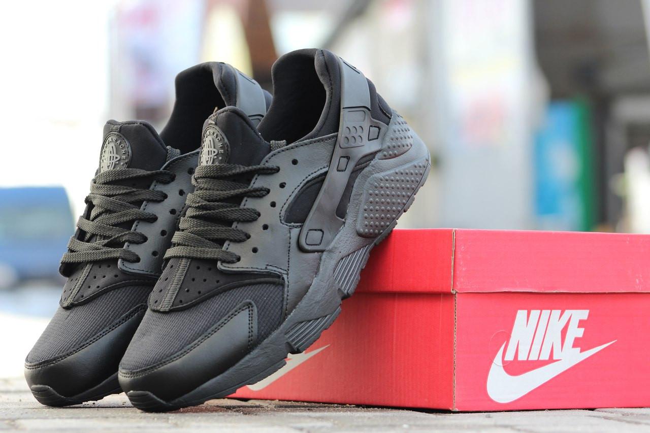 55c51fac Модные мужские кроссовки Nike Air Huarache (Хуараче)черные -  Интернет-магазин Дом Обуви