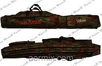 Чехол на две секции Kaida 1,3м, чехол для удилищ kaida, чехол для удочек спиннинга, чехол под удилища