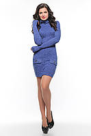 Теплое платье SO-14072-ELB электрик ТМ Alpama 42-46 размеры
