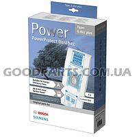 Мешки микроволокно Type G ALL plus в наборе и фильтр VZ51FGALL к пылесосу Bosch, Siemens 577549