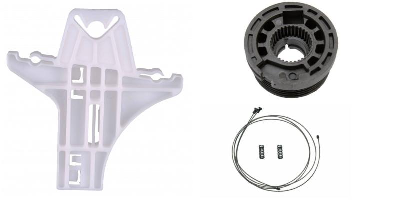 Ремкомплект стеклоподъемника Volkswagen Golf 6 задняя правая дверь  (Фольцваген Гольф 6)