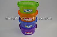 Бокс Irak Plastik SA-695  1,2 л круглый цветной