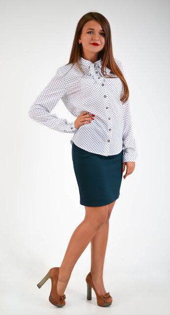 """Интересная классическая рубашка """"Ольга"""" размер 44,46,48"""