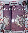 """Подарочный набор махровых полотенец 3D """"Бабочка"""" Vianna, фото 2"""