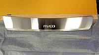 Накладка на бампер с загибом  Chevrolet Aveo II 4D 2006-