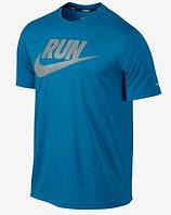 Стильная мужская  футболка с принтом найк,Nike RUN