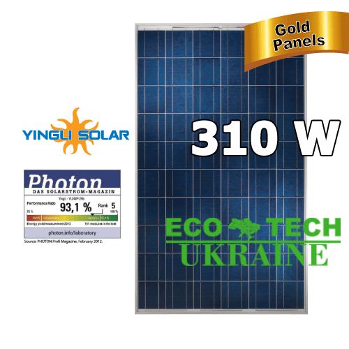 Yingli YL310P-35b солнечная панель (батарея, фотомодуль) поликристалл 310 Вт - ECO TECH UKRAINE солнечная энергетика, энергоэффективные технологии. Продажа, строительство, сервис. в Кривом Роге