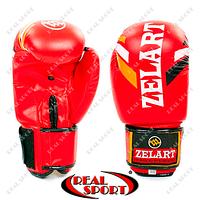 Перчатки боксерские Flex на липучке Zelart ZB-4276-Red