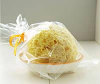 Шелковая морская губка Honeycomb 3-3.5 дюйма & мыльница оранж, фото 1