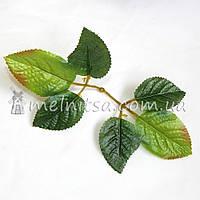 Лист розы декоративный, 6 шт на веточке
