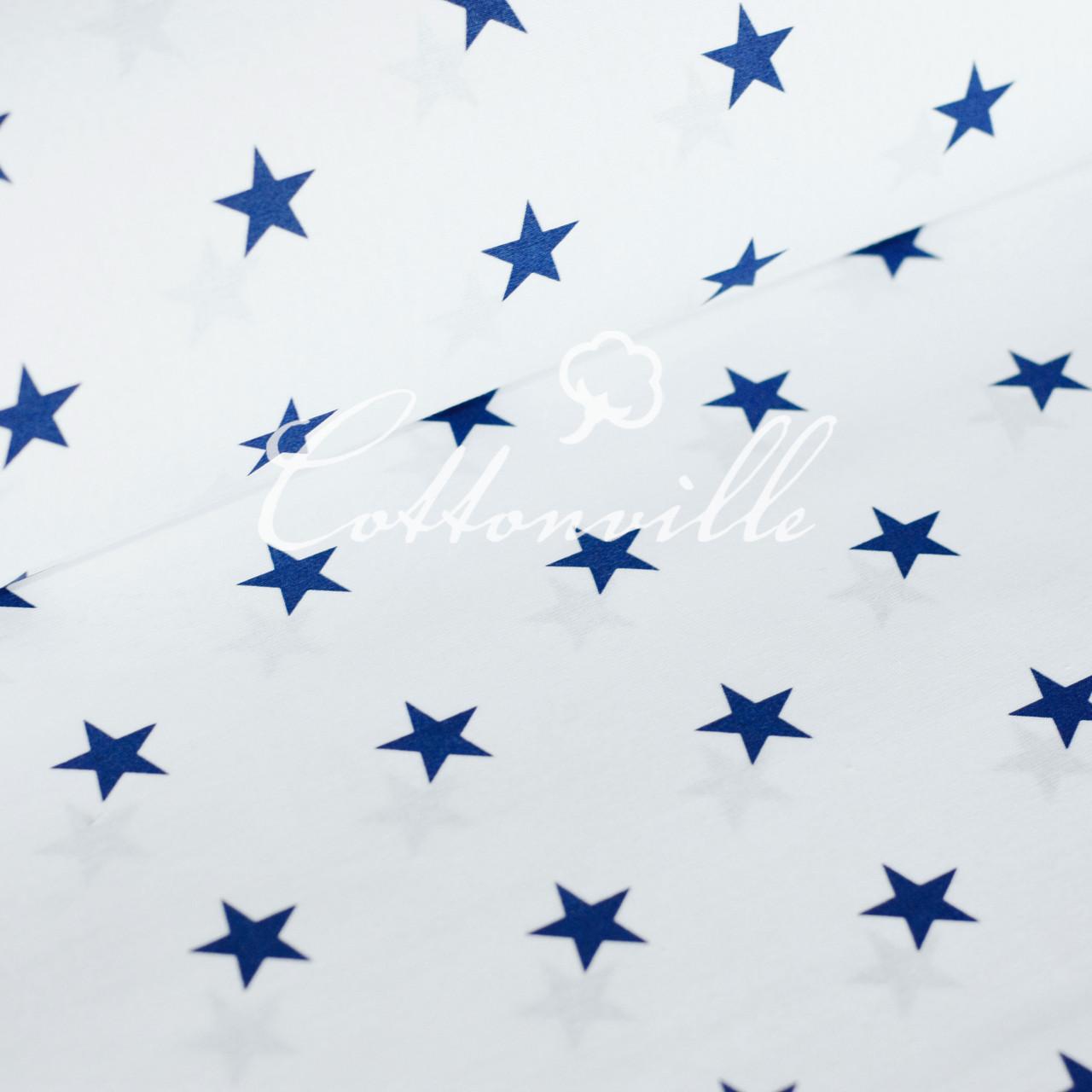 ✁ Отрезы бязи Синие звездочки (20 мм)