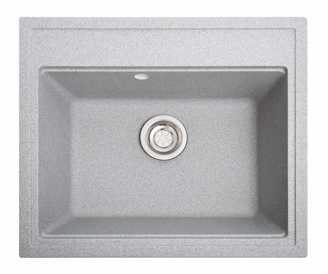 Гранитные кухонные мойки квадратные 520х600х210