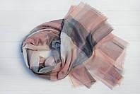 Шарф Валенсия, вискоза, серый/розовый
