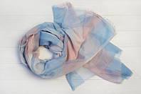 Шарф Валенсия, вискоза, голубой/розовый