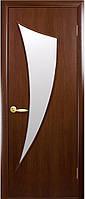 Дверь МОДЕРН ПАРУС экошпон, венге 3D, дуб жемчужный, кедр, сандал, ясень патна ( стекло сатин)