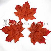Кленовый лист,  10 см, бордовый