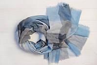 Шарф Валенсия, вискоза, голубой/серый