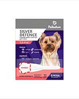 Краплі на холку SILVER DEFENCE від бліх, кліщів і комарів для собак вагою 1,5-4 кг