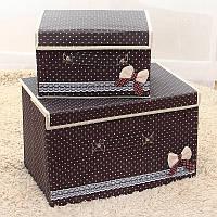 Короб для хранения вещей набор 2 шт., органайзеры для вещей набор 2 шт.