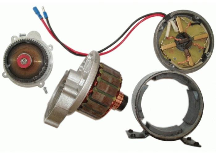 Електродвигун 24V250W постійного струму з вбудованим редуктором