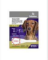Краплі на холку SILVER DEFENCE від бліх, кліщів і комарів для собак вагою 4-10 кг