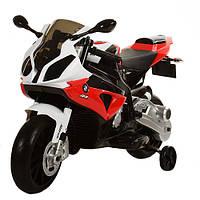 """Детский электромотоцикл BAMBI """"BMW"""" 2 мотора, звук мотора, высокое сидение, учебные колесики"""
