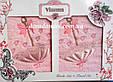 """Набір махрових рушників 3D """"Парасолька"""" Vianna (особа+серветка), рожевий, фото 3"""