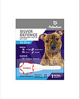 Краплі на холку SILVER DEFENCE від бліх, кліщів і комарів для собак вагою 10-20 кг