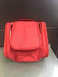Велика червона сумочка, сумка, органайзер, несесер, кейс у відпустку, жіноча, на подарунок, фото 2