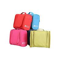 Большая красная косметичка, сумка, органайзер, несессер, кейс в отпуск, женская, на подарок