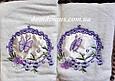 "Набор махровых полотенец 3D ""Бабочка"" Vianna ( лицо+салфетка), молочный, фото 3"
