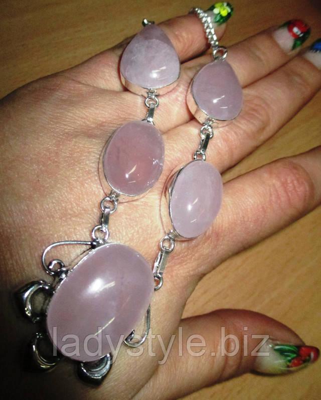 купить серебряный браслет натуральный халцедон украшения